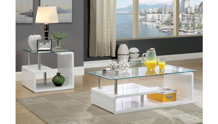 Vanni Lacquer Finish Coffee Table