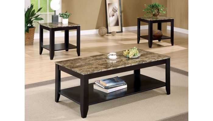 Vector Faux Marble Coffee Table Set