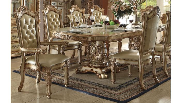 Vendome Gold Formal Dining Table Set, Vendome Dining Room Set