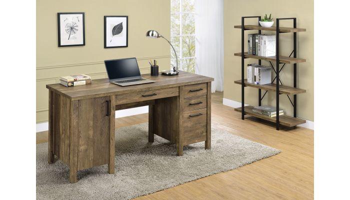 Venera Rustic Oak Finish Office Desk