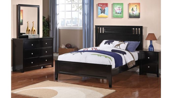 Veracity Black Finish Youth Bed