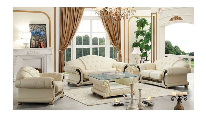 Noci Top Grain Leather Classic Sofa