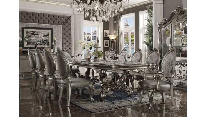 Versal Platinum Formal Dining Table Set