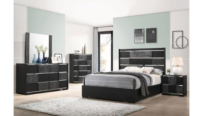 Vidal Modern Bedroom Furniture, Black Modern Bedroom Furniture