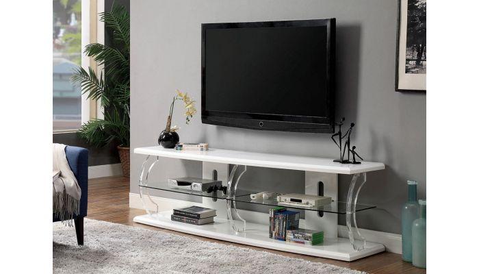 Viper Modern White Lacquer TV Stand