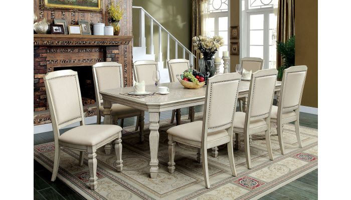 Wakefield Antique White Dining Room Set