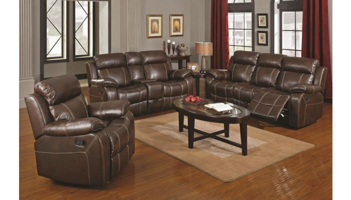 Walter Brown Leather Recliner Sofa