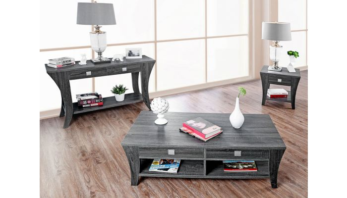 Wendon Storage Coffee Table Rustic Gray