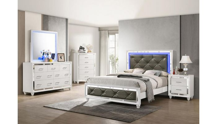 Weston Mirrored Bedroom With LED Lights