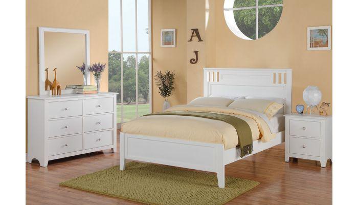 Veracity White Finish Youth Bedroom