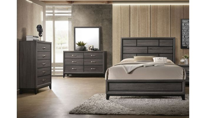 Williams Bedroom Furniture Grey Finish