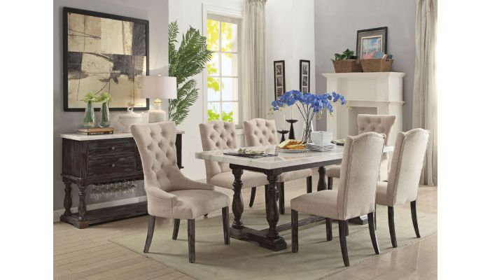 Wilma Marble Top Dining Table Set