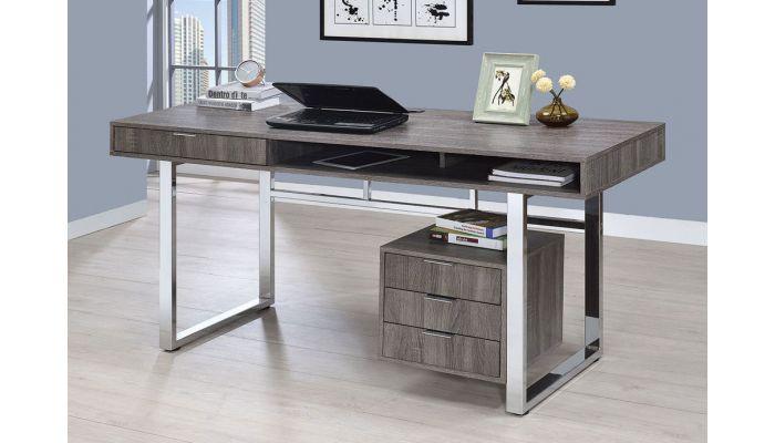 Worcher Rustic Grey Home Office Desk