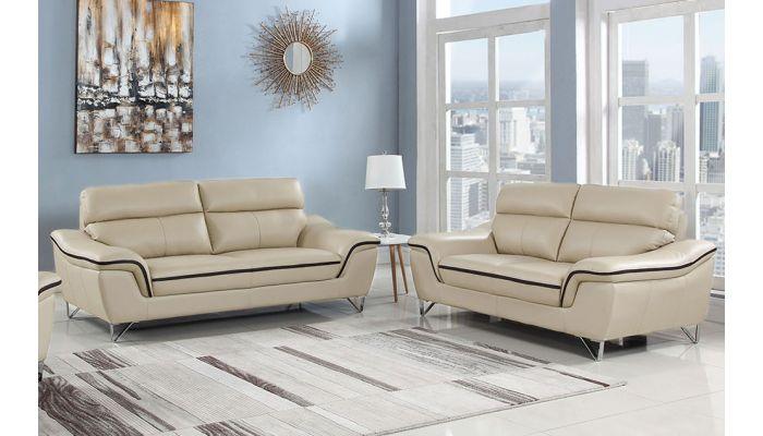 Wraith Beige Leather Sofa,Wraith Beige Leather Living Room Set