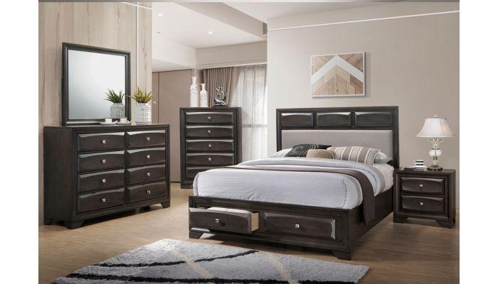 Zandra Bed With Storage Drawers