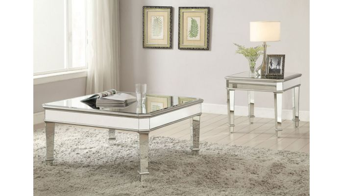 Zayden Modern Mirrored Coffee Table