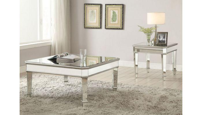 Zayden Modern Mirrored Coffee Table