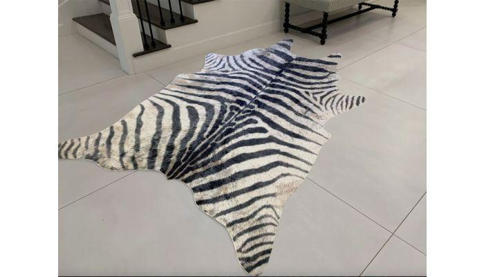 Vegan Zebra Print Hide