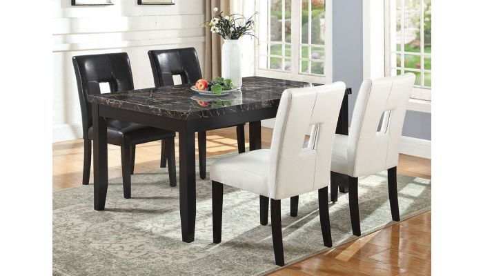 cheap for discount 4f6d1 71813 Zeta Faux Marble Dining Table Set