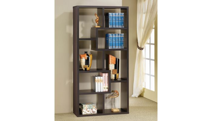 Zeus Cappuccino Bookcase Display