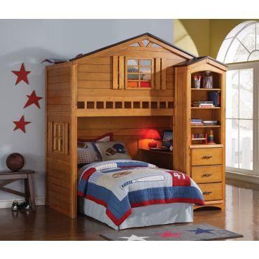 Montana Rustic Kids Loft Bed