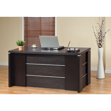 Henry Modern Office Desk With File Cabinets