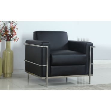 Emley Modern Accent Chair Chrome Frame