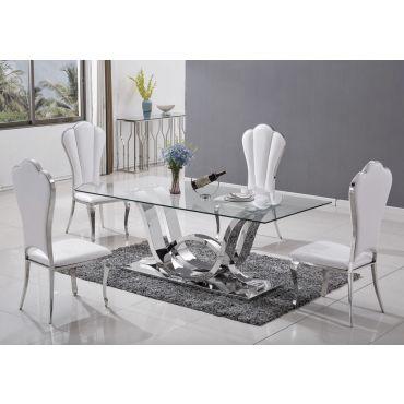 Cartier Modern Glass Dining Table