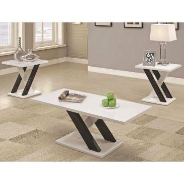 Cosmopolitan Lacquer Finish Coffee Table Set