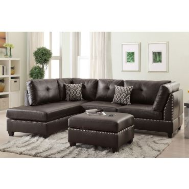 Adnus Espresso Leather Sectional