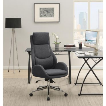Adrienne Grey Fabric Office Chair