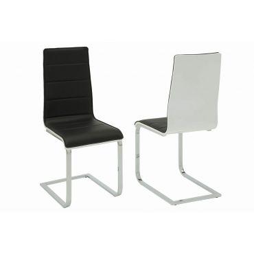 Agata Black & White Dining Chair