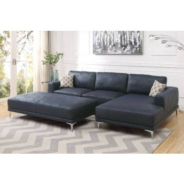 Akara Navy Blue Modern Sectional