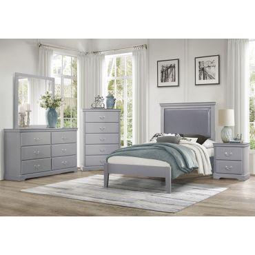 Alanna Grey Finish Bedroom Collection
