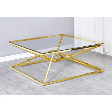 Aldon Gold Finish Coffee Table