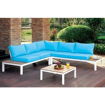 Aldora Outdoor Sectional With Tables