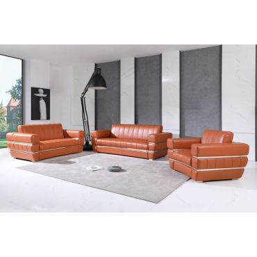 Allison Modern Design Leather Sofa Set