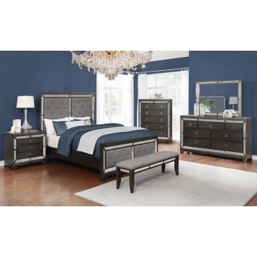 Alonza Mirrored Bedroom Furniture
