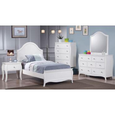 Amalia Youth Bedroom White Finish