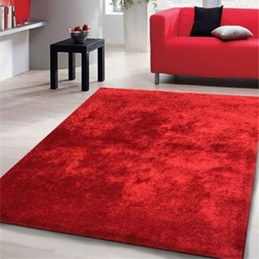 Red Color Amore Shag Rug