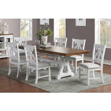 Angie White Formal Dining Table Set
