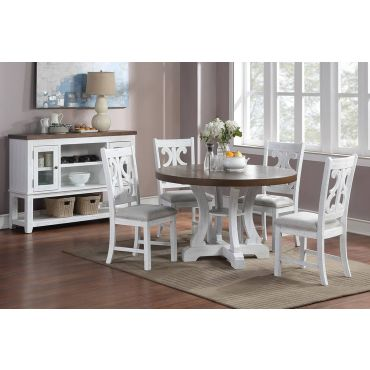 Angie 5-Piece Round Table Set