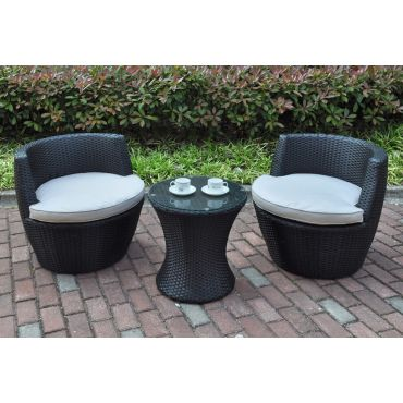 Aqua Outdoor 3 Piece Chair Set