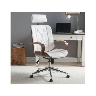 Ardor Office Chair White Leather