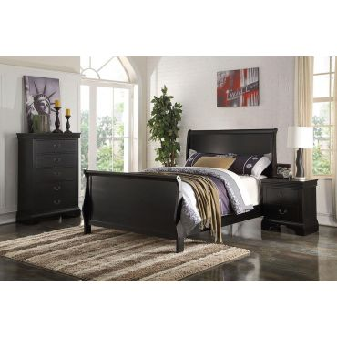 Ariela Black Finish Youth Sleigh Bed