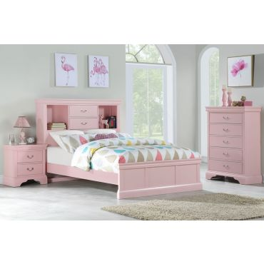 Aris Light Pink Youth Bed Furniture
