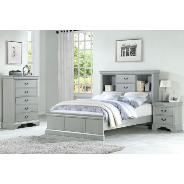 Aris Silver Finish Youth Bedroom