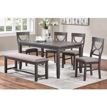 Armus Rustic Grey 6-Piece Dining Table Set