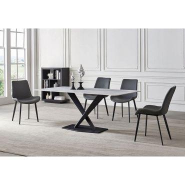 Artos Marble Top Table With Black Legs