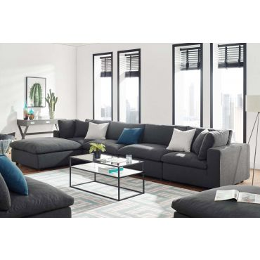 Arvada Grey Linen Modular Sectional